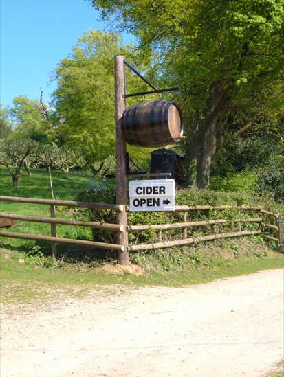 New Forest Cider Entrance, Burley